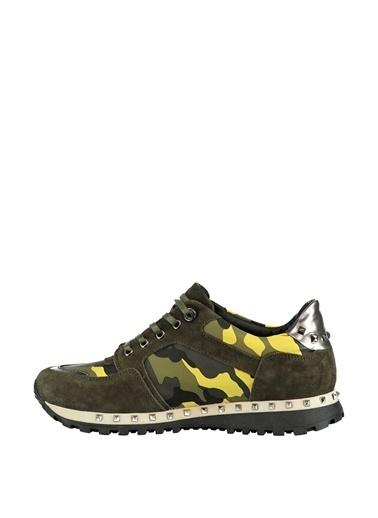 Elle %100 Deri Ayakkabı Yeşil